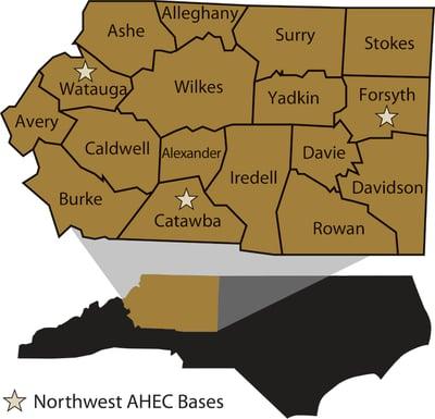 NWAHEC NC County MAP 2011-1